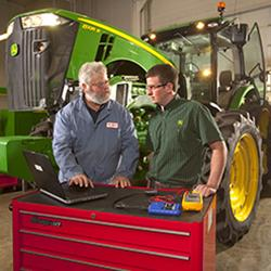 John Deere Tech student and instructor